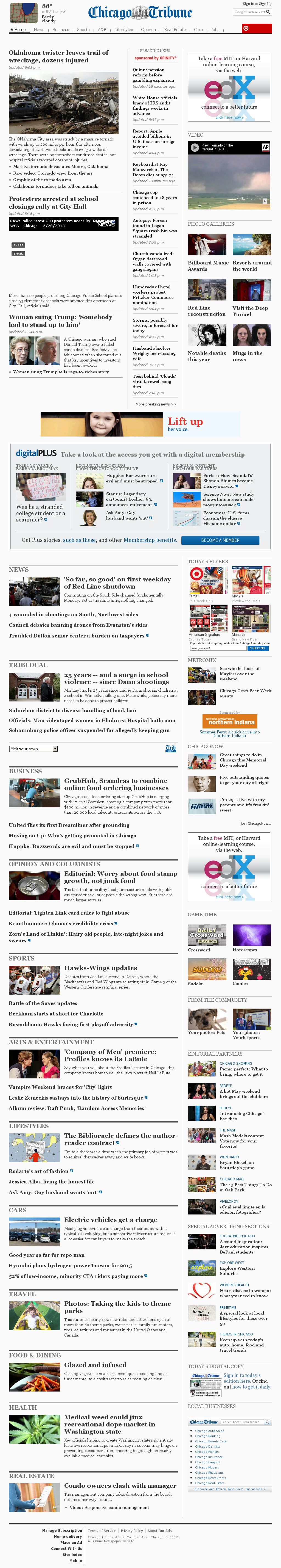 Chicago Tribune at Tuesday May 21, 2013, 12:03 a.m. UTC