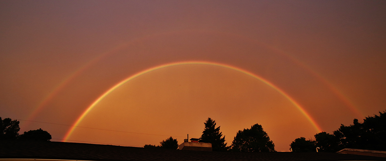 Double Rainbow in Tompkins County (photo)