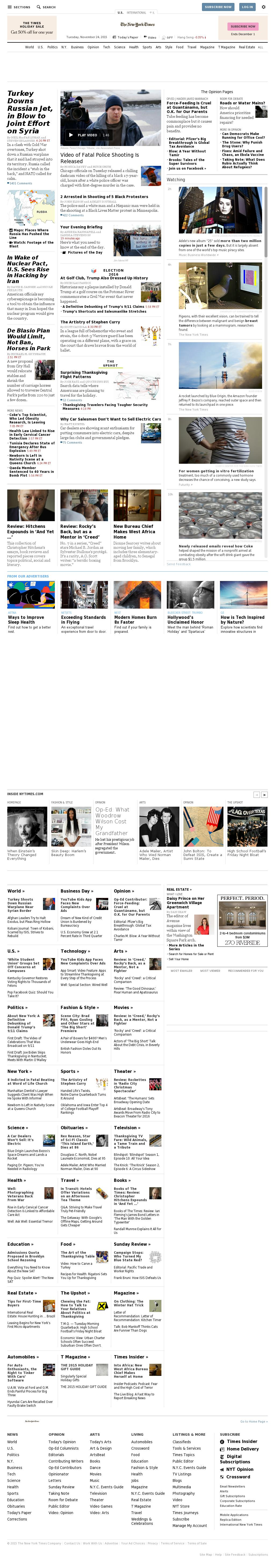 The New York Times at Wednesday Nov. 25, 2015, 1:15 a.m. UTC