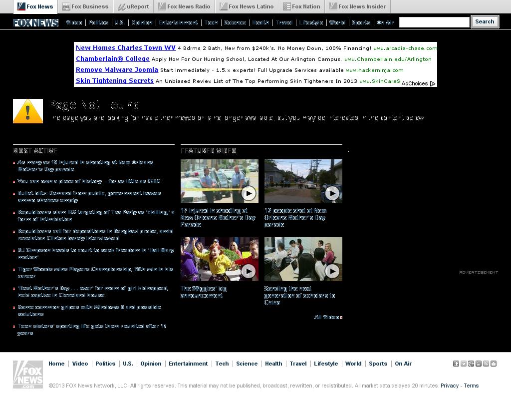 Fox News at Monday May 13, 2013, 5:06 a.m. UTC