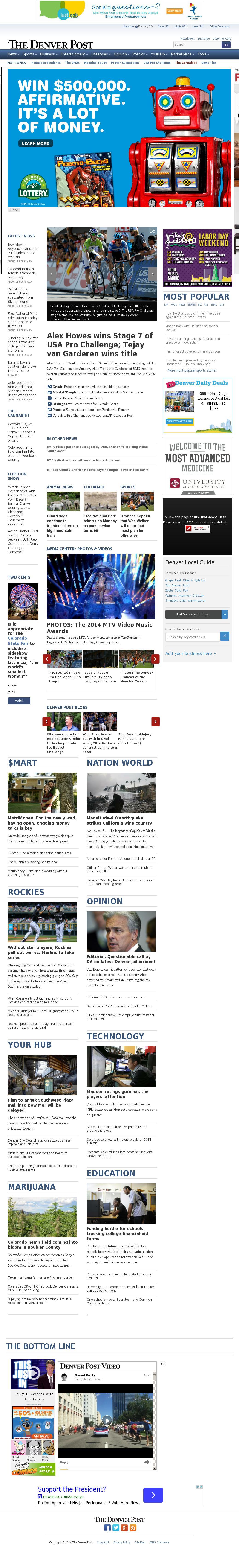 Denver Post at Monday Aug. 25, 2014, 10:04 a.m. UTC