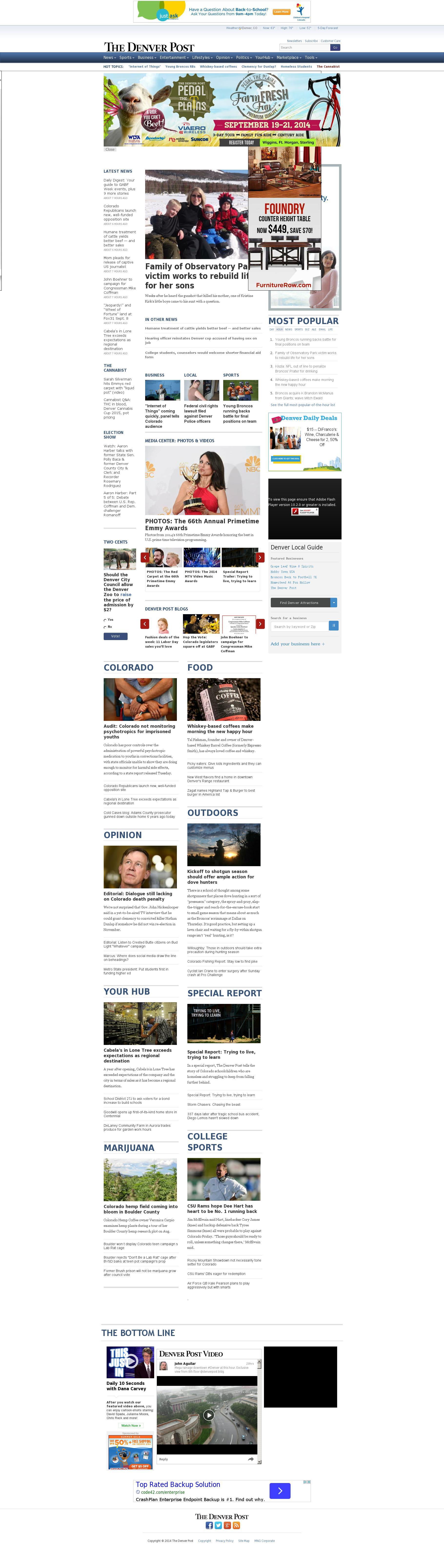 Denver Post at Wednesday Aug. 27, 2014, 5:03 p.m. UTC