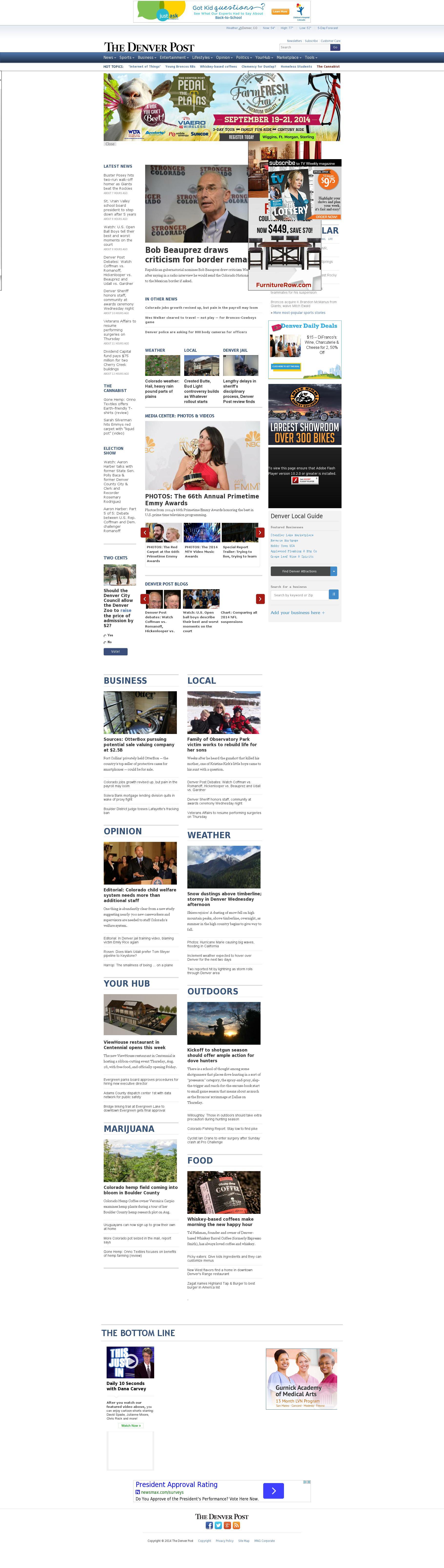 Denver Post at Thursday Aug. 28, 2014, 6:05 a.m. UTC