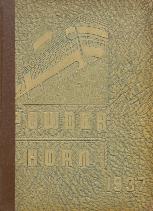 Cover of the George Rogers Clark High School Yearbook the Powder Horn 1937
