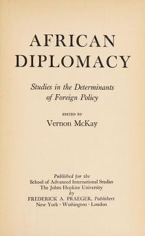 Cover of: African diplomacy | Vernon McKay