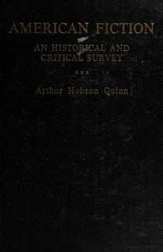Cover of: American fiction | Arthur Hobson Quinn