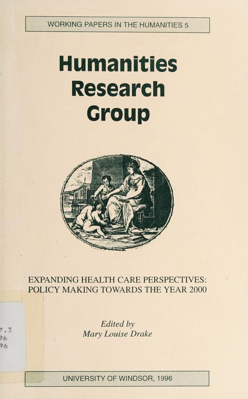 Expanding health care perspectives by edited by Mary Louise Drake.