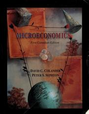 Cover of: Microeconomics (Canadian) | David C. Colander, Peter Sephton
