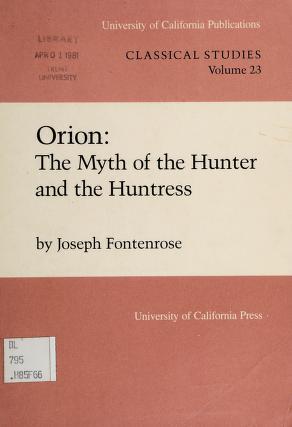 Cover of: Orion | Joseph Eddy Fontenrose
