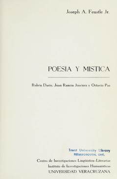 Cover of: Poesía y mística | Joseph A. Feustle