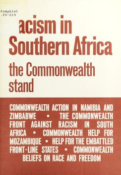 Cover of: Racism in Southern Africa: The Commonwealth Stand | Commonwealth Secretariat