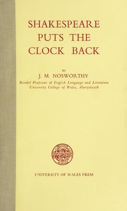 Cover of: Shakespeare puts the clock back | J. M. Nosworthy