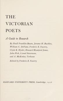 Cover of: The Victorian poets   Frederic E. Faverty
