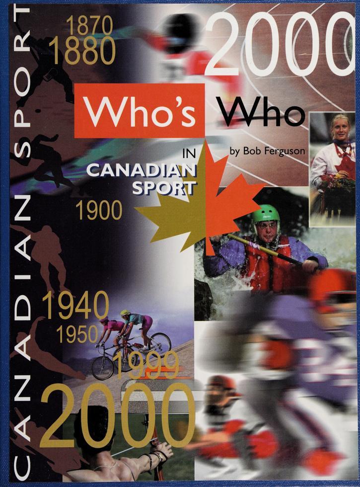 Who's who in Canadian sport, volume 3 by Bob Ferguson