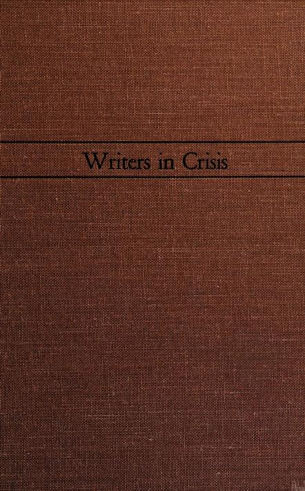 Writers in crisis by Maxwell David Geismar